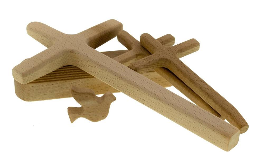 Wooden nativity set – OAK - 6 Handmade Pieces