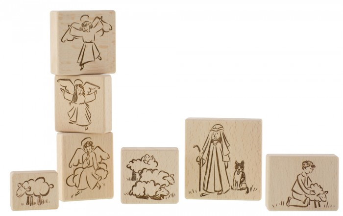 Wooden ornaments with Angels