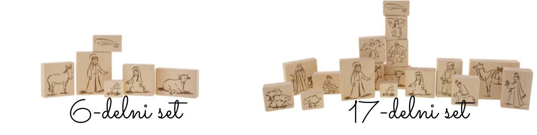 Male in velike žbožične kocke